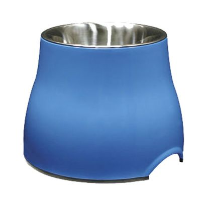 73743 Dogit Elevated Dish Small Blue 300ml with Stainless Steel Insert
