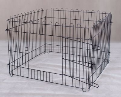 Steel Play Pen 5005 Black 4 pcs with one door