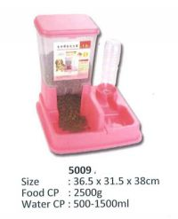 Automatic Food and Water Feeder Food 2500g Water 1500ml