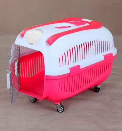Pet Carrier 6091 with handle and Wheels