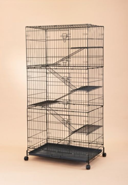 Collapsible Steel Cat Cage 6369 Economical Version