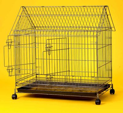 Collapsible Steel Pet Cage 6425 (Double Doors)