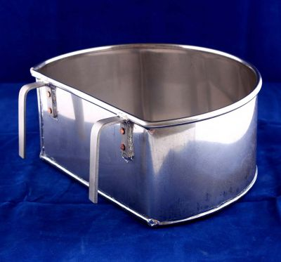 D Shape Stainless Steel Hanging Bowl 7""