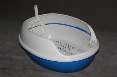 Cat Litter Tray With Cover and Scoop 2 Layers 6662