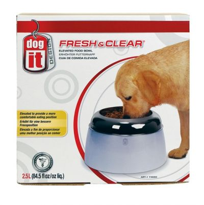 Dogit Design Fresh and Clear Elevated Dog Food Bowl 2500ml