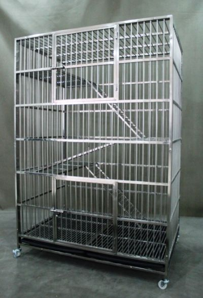 Fully Welded Stainless Steel Cat Cage 9300 Solid Steel