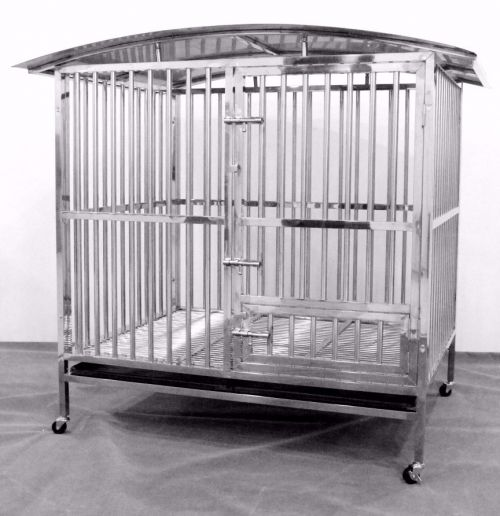 Stainless Steel Dog Cage 93152 with Roof