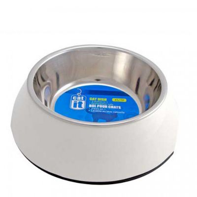 54501 Catit 2 In 1 Durable Bowl XS 160ml White