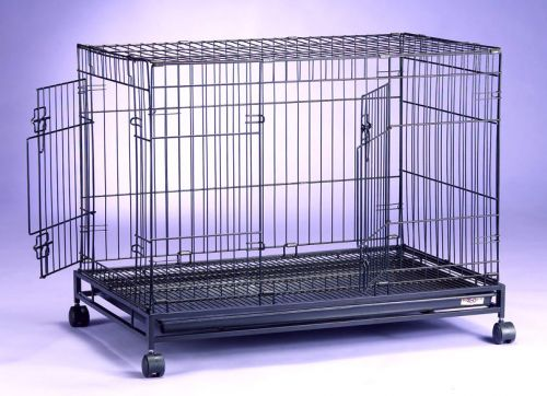 Collapsible Dog Cage D305RI with Castor Wheels