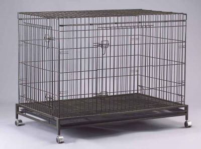 Collapsible Dog Cage D307RI with Castor Wheels and Brakes