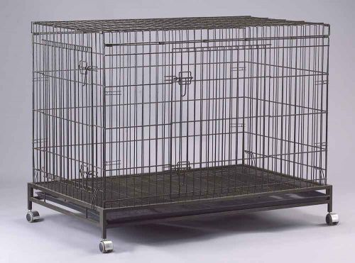 Collapsible Dog Cage D308RI with Castor Wheels and Brakes