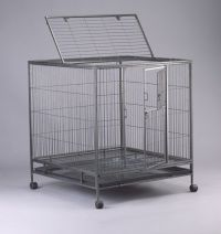 Dog Cage D325 with 1 plastic tray and 4 castor wheels