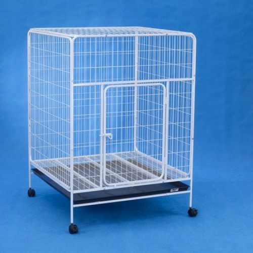 Dog Cage D334 (White)