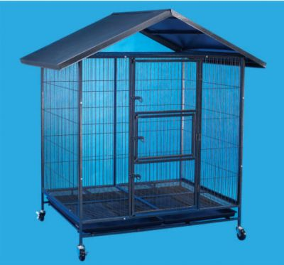 Steel Dog Cage D336R with Roof