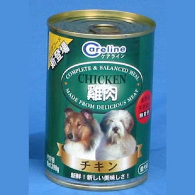CARELINE DOG CAN FOOD Chicken Flavour 24 Cans of 390gms