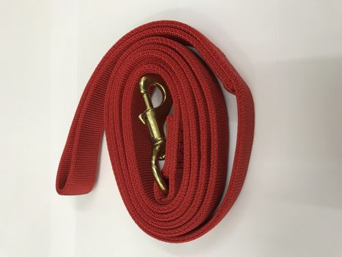 DOG TRAINING NYLON LEASH 25MM X 6 FEET 2 LAYERS (FLAT) LARGE BREED RED