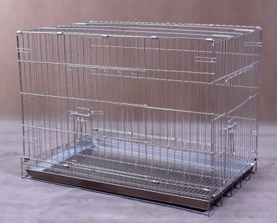 Collapsible Stainless Steel Pet Cage S1081