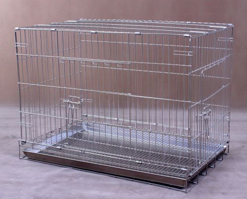 Collapsible Stainless Steel Pet Cage S1091
