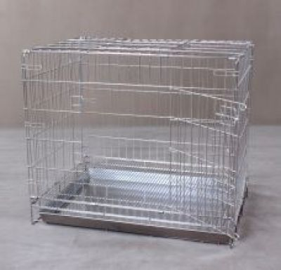 Collapsible Stainless Steel Pet Cage S1151 Double Door