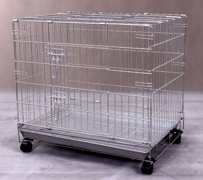 Collapsible Stainless Steel Pet Dog Cage S115