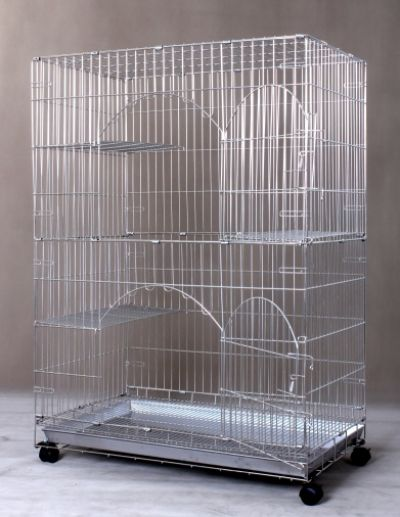 Foldable Stainless Steel Cat Cage S841A