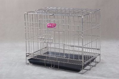 Collapsible Stainless Steel Pet Cage SC101 201 Material