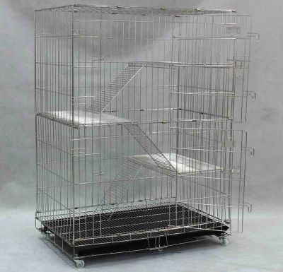 Stainless Steel Cat Cage SCC202