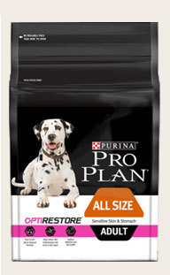 Purina ProPlan ADULT ALL SIZE SENSITIVE SKIN & STOMACH WITH OPTIRESTORE 10Kg
