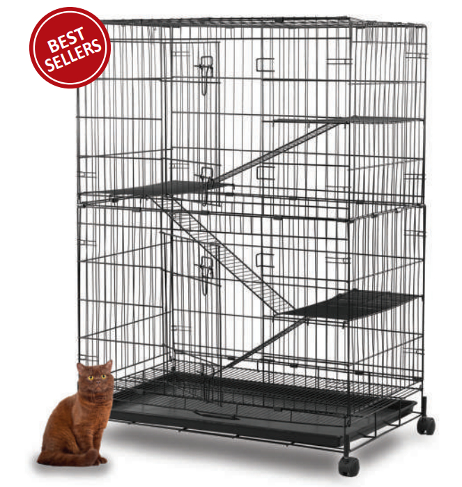 Collapsible Steel Cat Cage C368