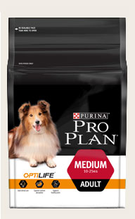 Purina ProPlan ADULT MEDIUM CHICKEN WITH OPTILIFE  12KG