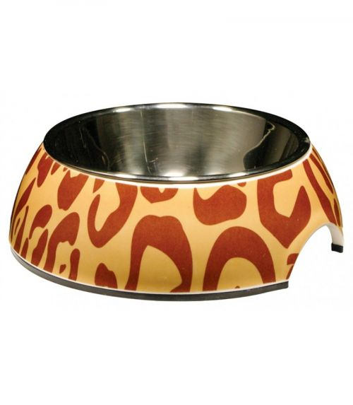 54525 Catit 2 In 1 Style Bowl with Stainless Steel Insert (Extra Small) 160ml Leopard