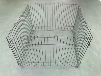 Steel Play Pen Black 4 pcs